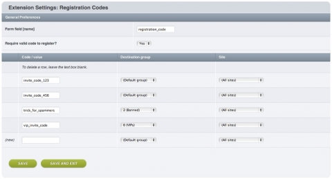 Create a system of registration/invitation codes, and place new members in groups that you choose.