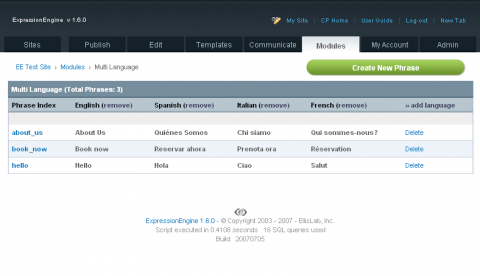 Multi Language Module - devot:ee - Devoted to ExpressionEngine