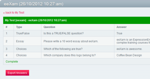 Eexam member answers