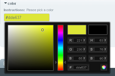 Color picker custom field