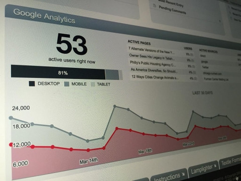 Display real time traffic and 30-day trends in the control panel