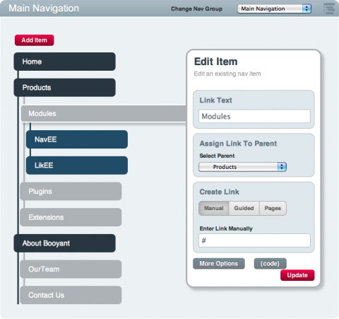Control Panel - In Page Editing