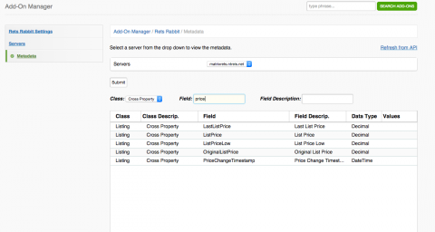 Quickly find property fields with our new Metadata explorer