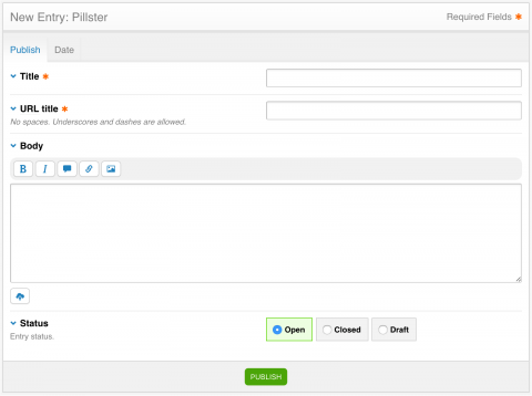 Pillster Publish Page