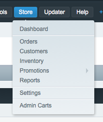 Once Installed, adds option in the Store Dropdown