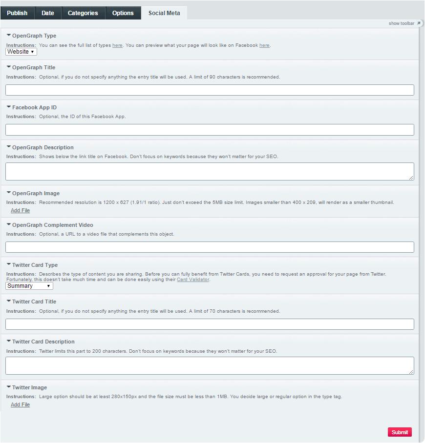 Social Meta - devot:ee - Devoted to ExpressionEngine