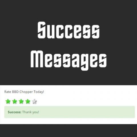 Success Messages