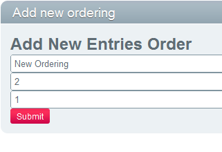 Add new ordering