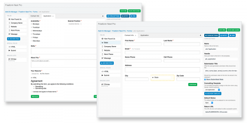 Easily build complex multi-page forms.
