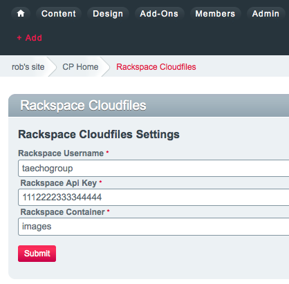 Rackspace Cloudfiles - devot:ee - Devoted to ExpressionEngine