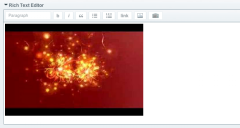 Video added to ExpressionEngine's native RTE field.