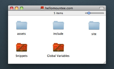 View templates, snippets and global variables as files