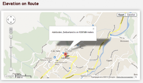 Gmaps elevation geocoding