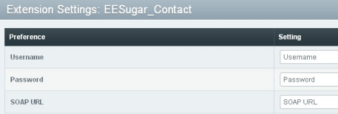 EEsugar freeform to contact module integration