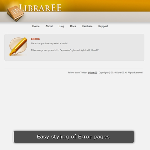 Styling of Error Pages