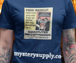 FREE BOOKLET - Computer Programmer Retro t-Shirt