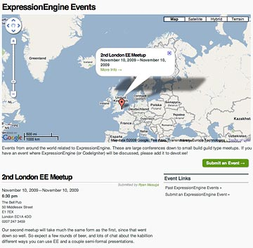 EE Events Page